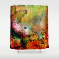 chinese Shower Curtains featuring Chinese landscape by Ganech joe