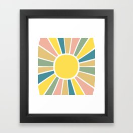 Retro Sunshine Framed Art Print