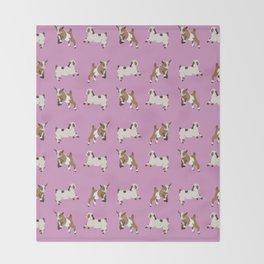 Baesic Prancing Goats Throw Blanket