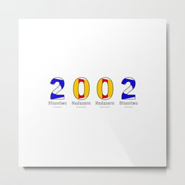 2002 - NAVY - My Year of Birth Metal Print