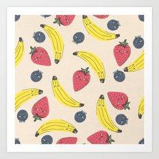 Berry Banana Smoothie  Art Print