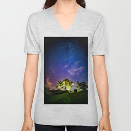 Galaxy Dreams of an Earthling Unisex V-Neck