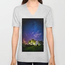 Galaxy Dreams of an Earthling Unisex V-Neck