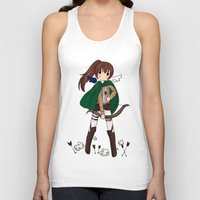 snk Tank Tops featuring Sasha Braus by Sir-Snellby