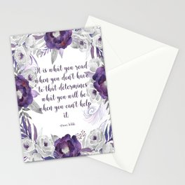 What You Read Stationery Cards