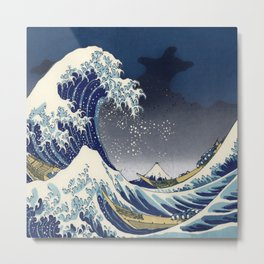 Great Wave: Kanagawa Night Metal Print