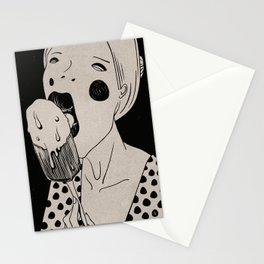 Tasty, Ice-Cream, Portrait Stationery Cards