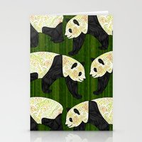 panda Stationery Cards featuring Panda by Ben Geiger