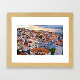 Lisbon at Sunset Framed Art Print