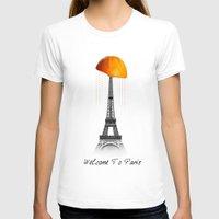paris T-shirts featuring Paris by Mehdi Elkorchi