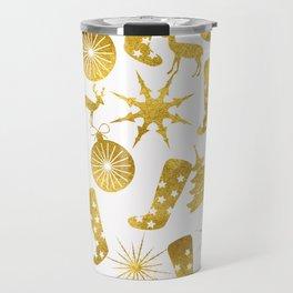 Gold Christmas 06 Travel Mug