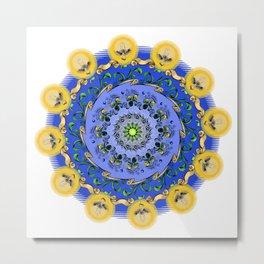 Mandala of flowers Metal Print