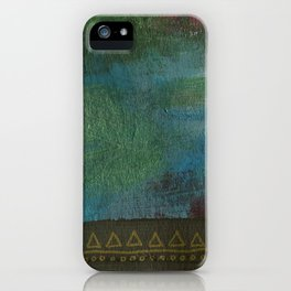 Deep blue green iPhone Case