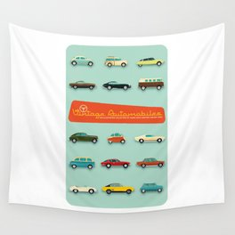 Vintage Automobiles Wall Tapestry
