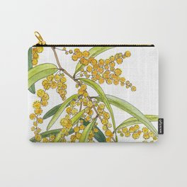 Australian Wattle Flower, Illustration Carry-All Pouch