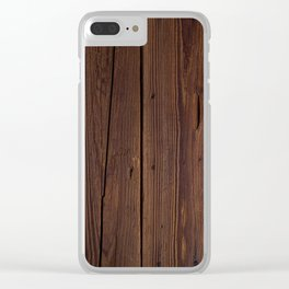 basic brown Clear iPhone Case