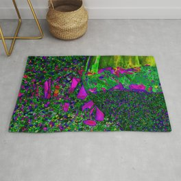 Abstract Wine Glass in Green Rug