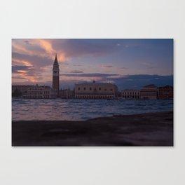 Venice: Pink Sunset Canvas Print