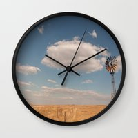 country Wall Clocks featuring Country by Lorryn Smit