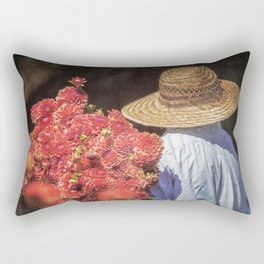 Picking the Flowers Rectangular Pillow