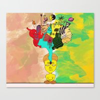 chakra Canvas Prints featuring Chakra by Omnii