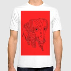 Elephant of the Day White Mens Fitted Tee MEDIUM