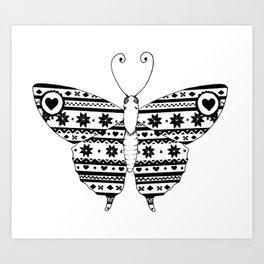 Flutterbly Art Print