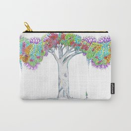 Rainbow Tree Huia Art Carry-All Pouch