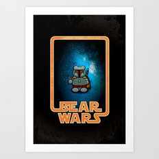 Bear Wars - Bobba Furry Art Print