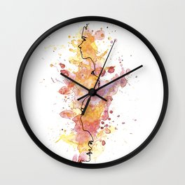 NEIN - watercolor art work Wall Clock