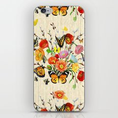 Butterfly Bouquet on Raw Silk iPhone & iPod Skin