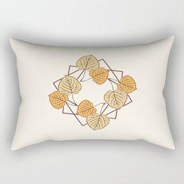 Aspen Leaves in Squares Rectangular Pillow