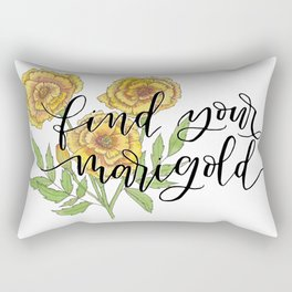 Find Your Marigold Rectangular Pillow
