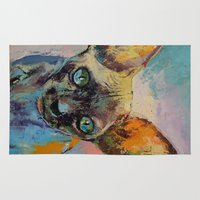 sphynx Area & Throw Rugs featuring Sphynx by Michael Creese