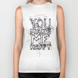 You Make Me Happy Biker Tank