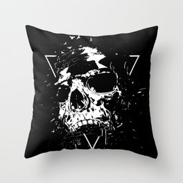 Skull X (bw) Throw Pillow
