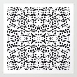 black square elements Art Print
