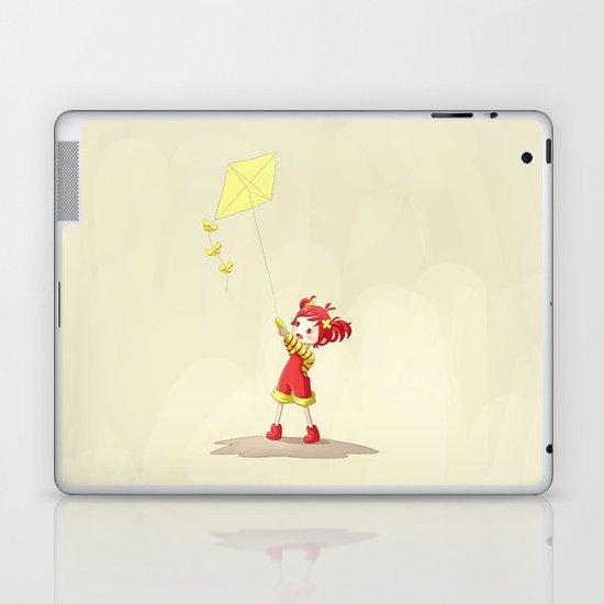Girl with Kite Laptop & iPad Skin