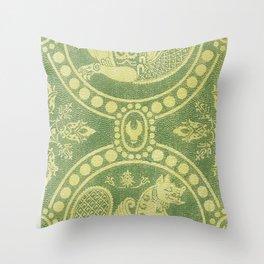 Silk fabrics 13th century (1857-1864) by anonymous Throw Pillow