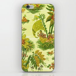 Chartreuse Chinoiserie iPhone Skin