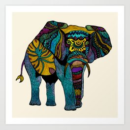 Elephant of Namibia Art Print