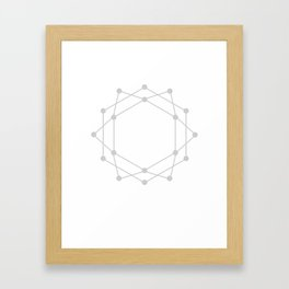 Connected Dots Framed Art Print