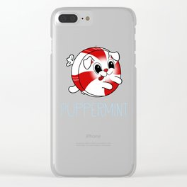 Puppermint - Peppermint Puppy Dog Clear iPhone Case