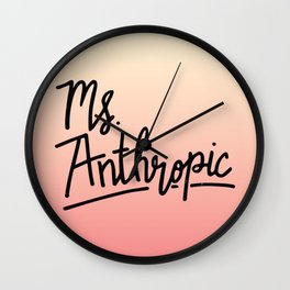 Ms. Anthropic Wall Clock