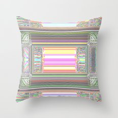 Moderne Glitch Throw Pillow