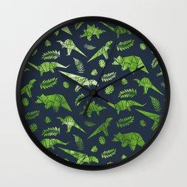 Origami Dinosaurs Wall Clock