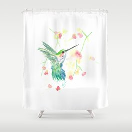 Hummingbirds in Flight 3 Shower Curtain