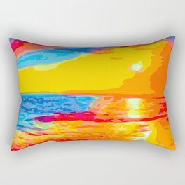 Neon Beach Rectangular Pillow