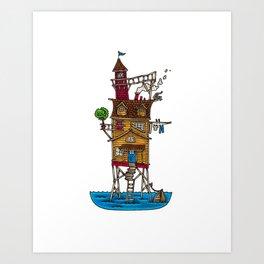 Stilt House Art Print