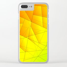 Bright summer pattern of yellow and green triangles and irregularly shaped lines. Clear iPhone Case